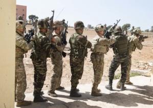 Soldats marocains et américains lors de l'exercice African Lion