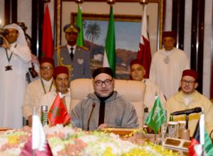 SM Mohammed VI au Sommet Maroc-CCG, en 2016 à Ryad