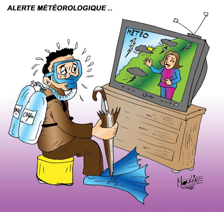 Alerte météo en caricature