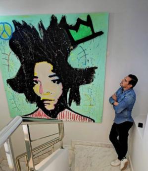 Driss Benwahoud se démarque avec ses tableaux de Street Pop Art