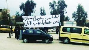 """Manifestation des victimes dans l'affaire des """"véhicules du polisario"""""""