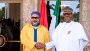 Sm Mohammed VI en compagnie du président du Nigéria, Muhammadu Buhari