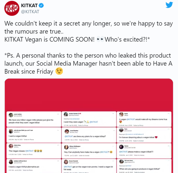 Nestlé lance un KitKat Vegan