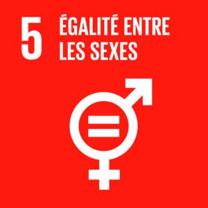 Objectif 5 de développement durable : Parvenir à l'égalité des sexes et autonomiser toutes les femmes et les filles.