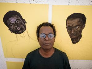 M'barek Bouhchichi à l'Atelier 21