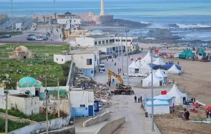 L'aménagement de la plage de Rabat