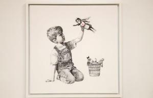 Londres : un Banksy vendu à un prix record au profit du service de santé