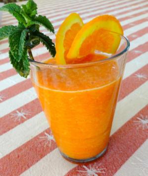 Jus de carottes à l'orange