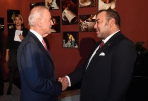 SM Mohammed VI recevant Joe Biden, alors vice-président des Etats-Unis, en novembre 2014