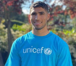 L'UNICEF : Achraf Hakimi désigné champion des droits de l'enfant au Maroc
