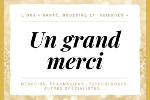 Remerciements de lodj « Santé, médecine et  sciences »