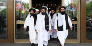Les négociateurs Taliban à Doha (Qatar)