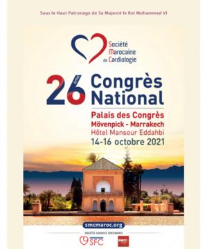 26 émie congrès national de cardiologue du 14 au 16 octobre 2021 à Marrakech