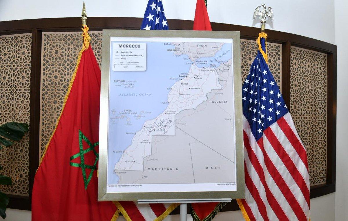 La carte intégrale du Maroc telle que reconnue par les Etats-Unis