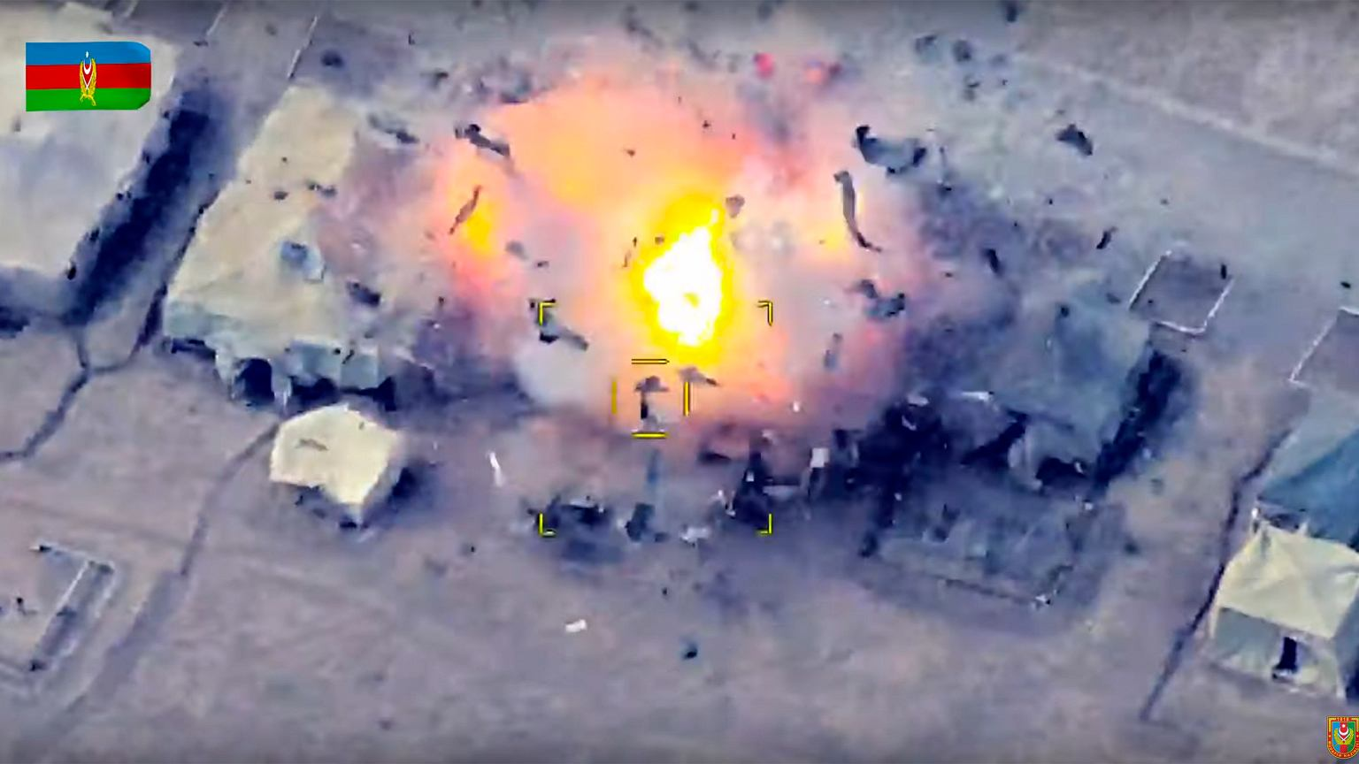 Une cible arménienne détruite par un drone azéri