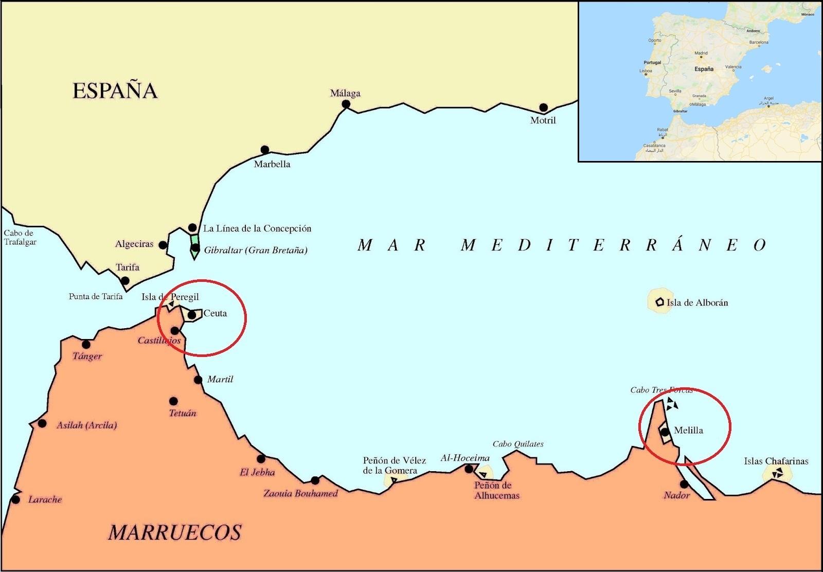 Il faut être aveugle pour ne pas voir que Sebta et Melillia se trouvent au Maroc