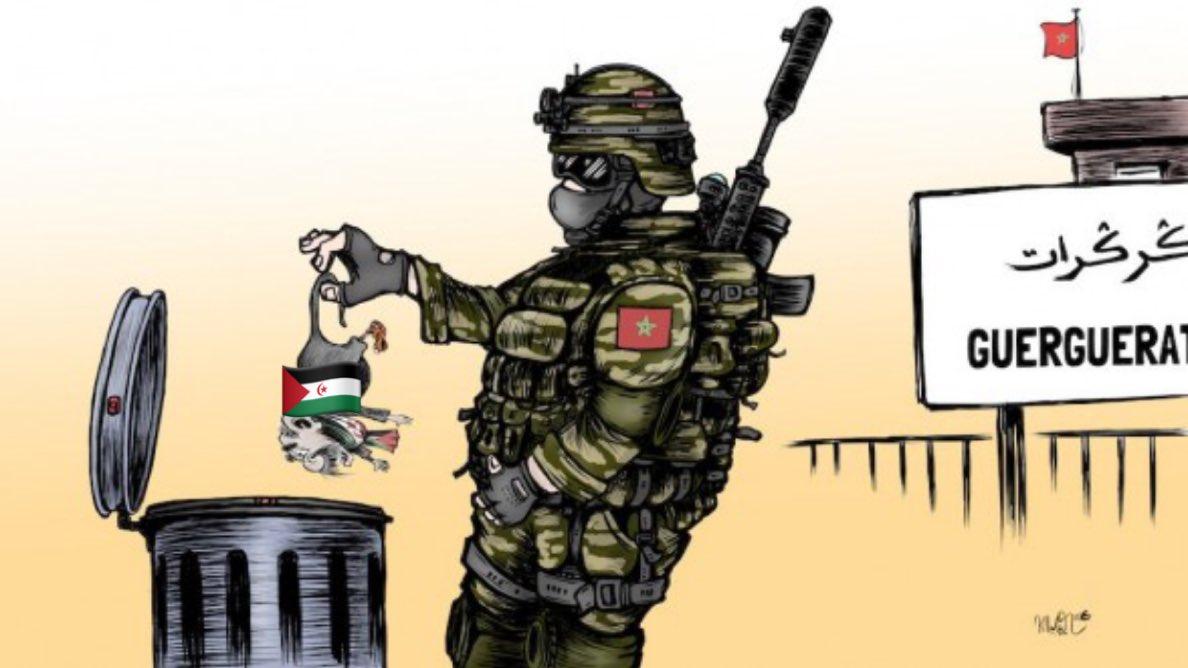 Caricature de Khalid Gueddar parue sur le 360.ma