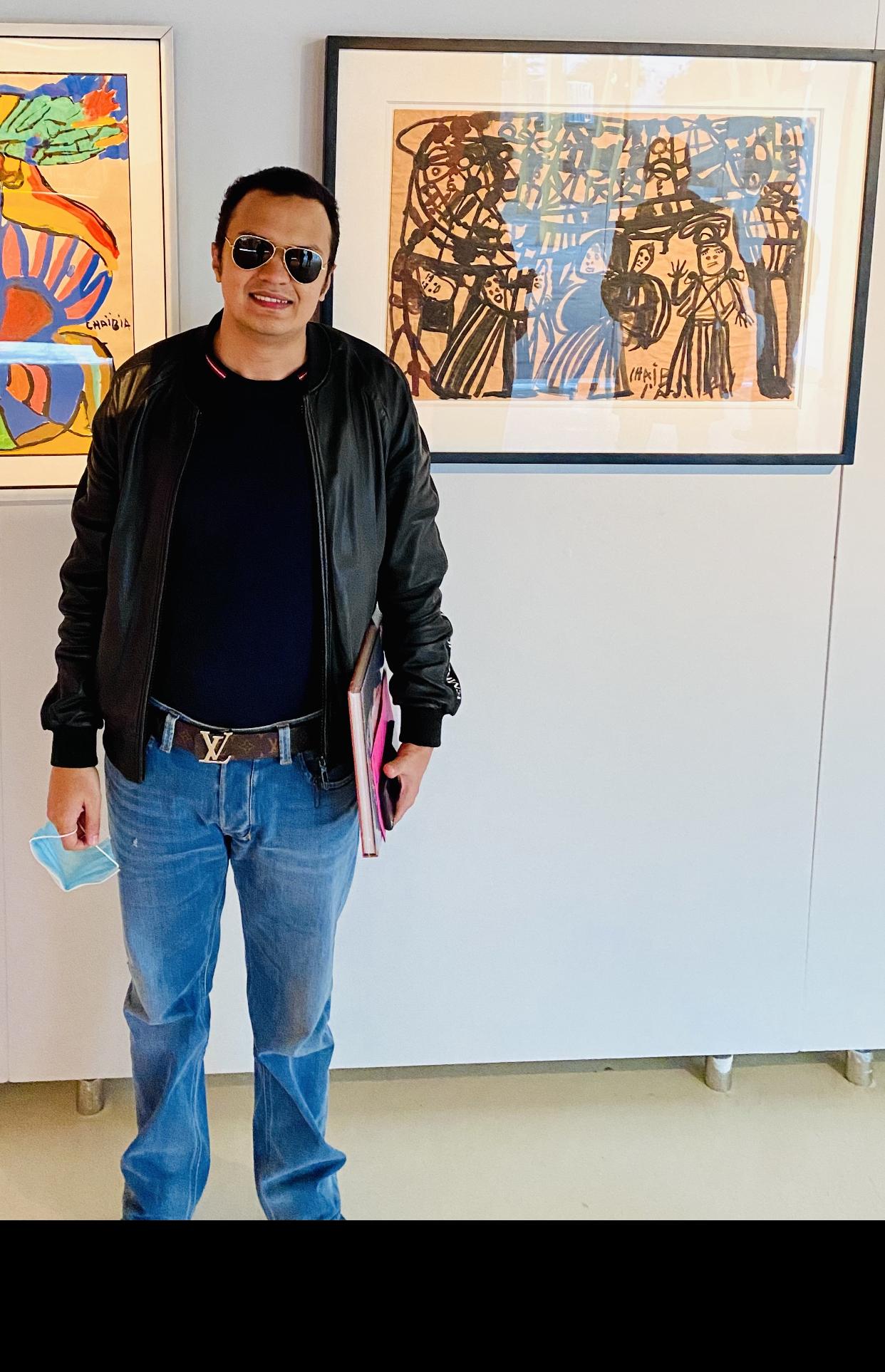 Oeuvre de Chaïbia Talal exposée à la fondation CDG