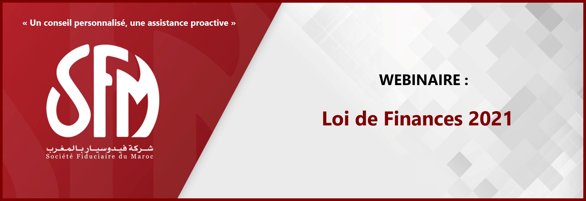 Webinaire SFM : Loi de Finances 2021