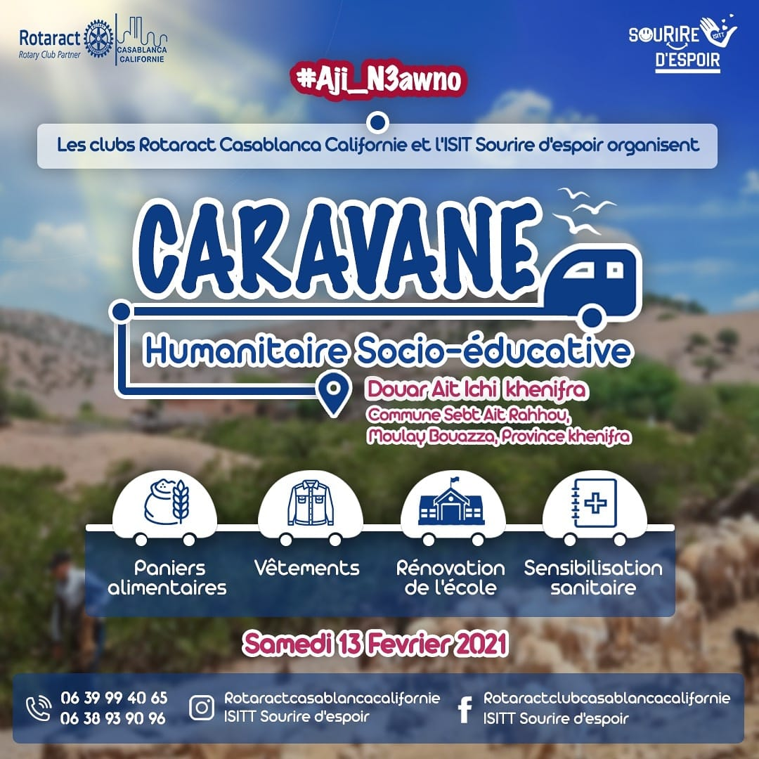 Caravane Humanitaire Rotaract Casablanca Californie