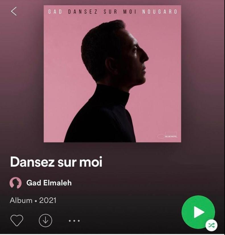 """Gad El Maleh sort son premier album intitulé """" Dansez sur moi"""""""