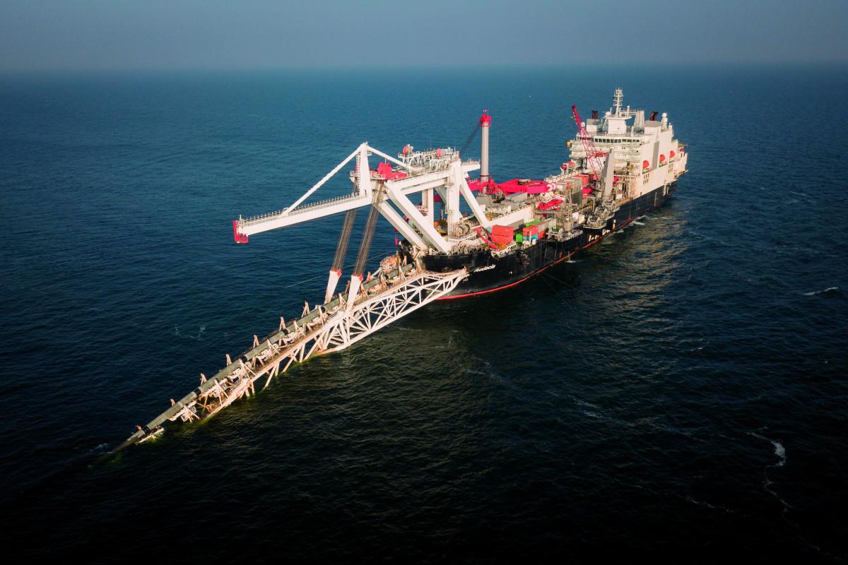 Pose du gazoduc en Mer Baltique