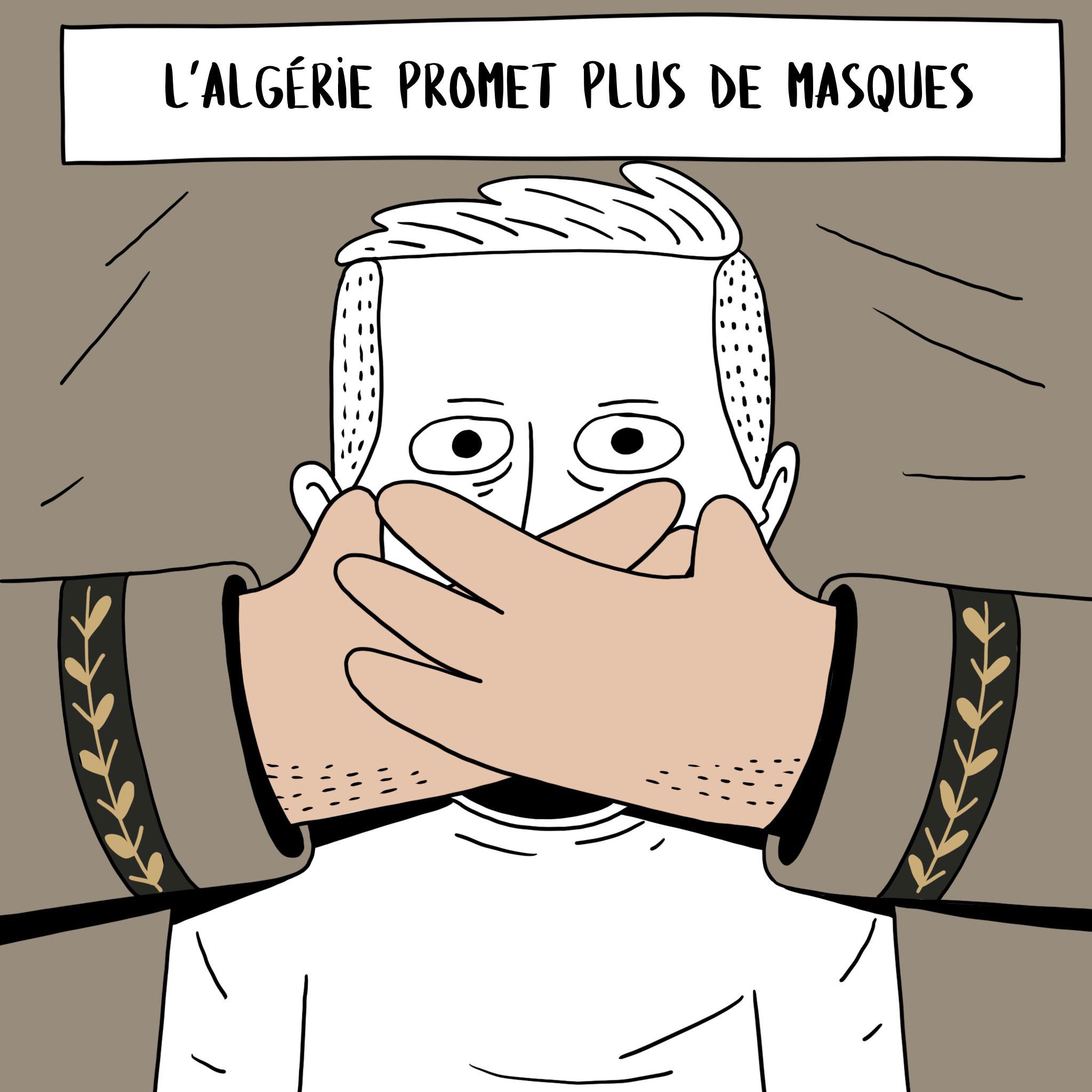 Caricature du dessinateur algérien Salim Zerrouki