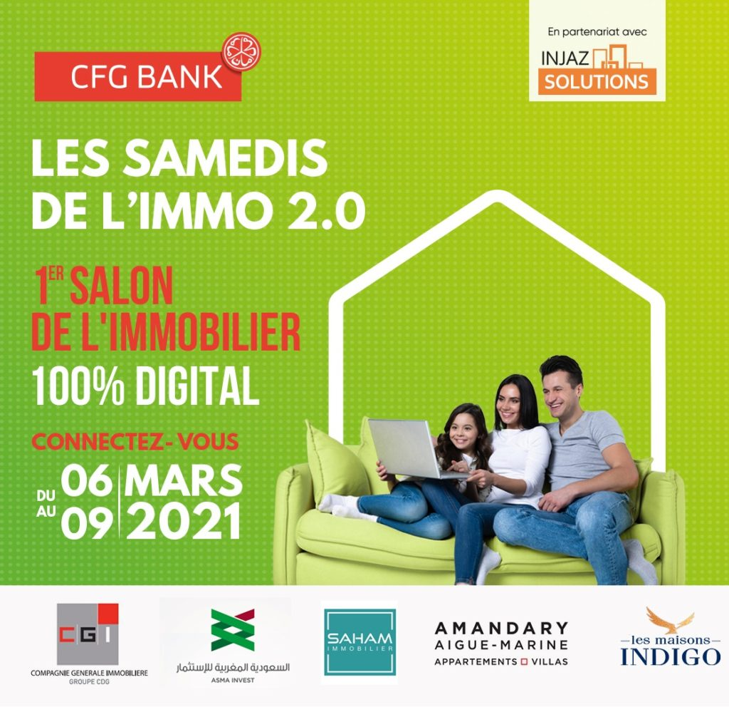 Maroc : CFG Bank lance le premier salon immobilier 100% digital