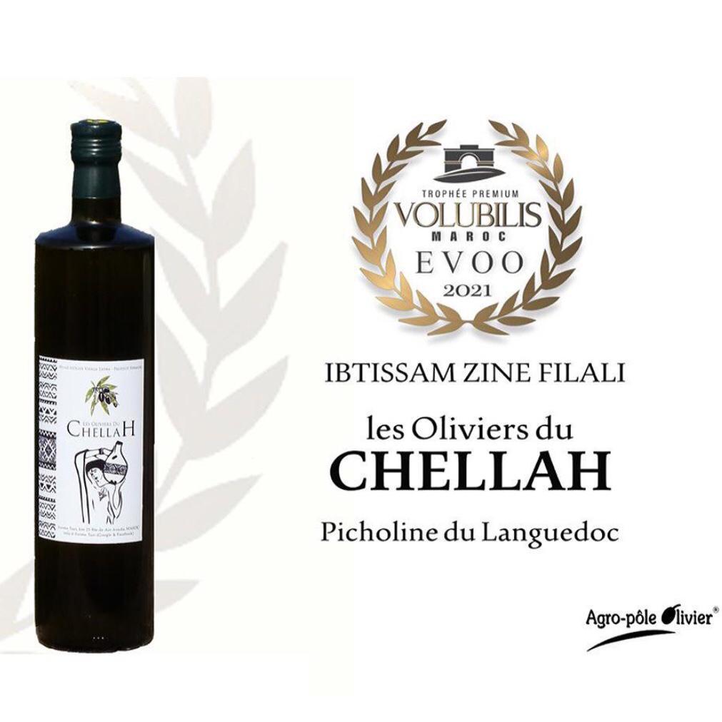 """L'huile d'olive """"Les Oliviers du Chellah"""" primée"""