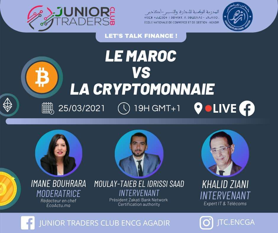 Le Club Junior Traders de l'ENCG d'Agadir organise un débat sur la cryptomonnaie