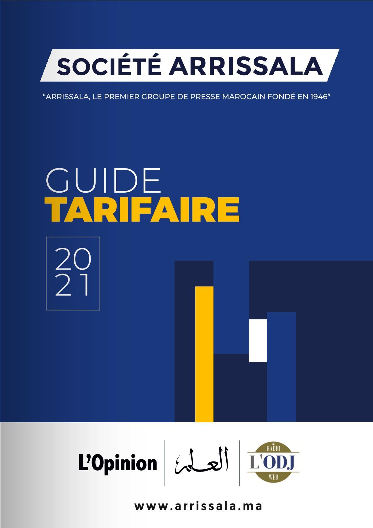 Brochure Grille Tarifaire Arrissala 2021