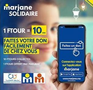 """""""Marjane solidaire"""", une opération lancée par Marjane Holding et la Banque Alimentaire"""
