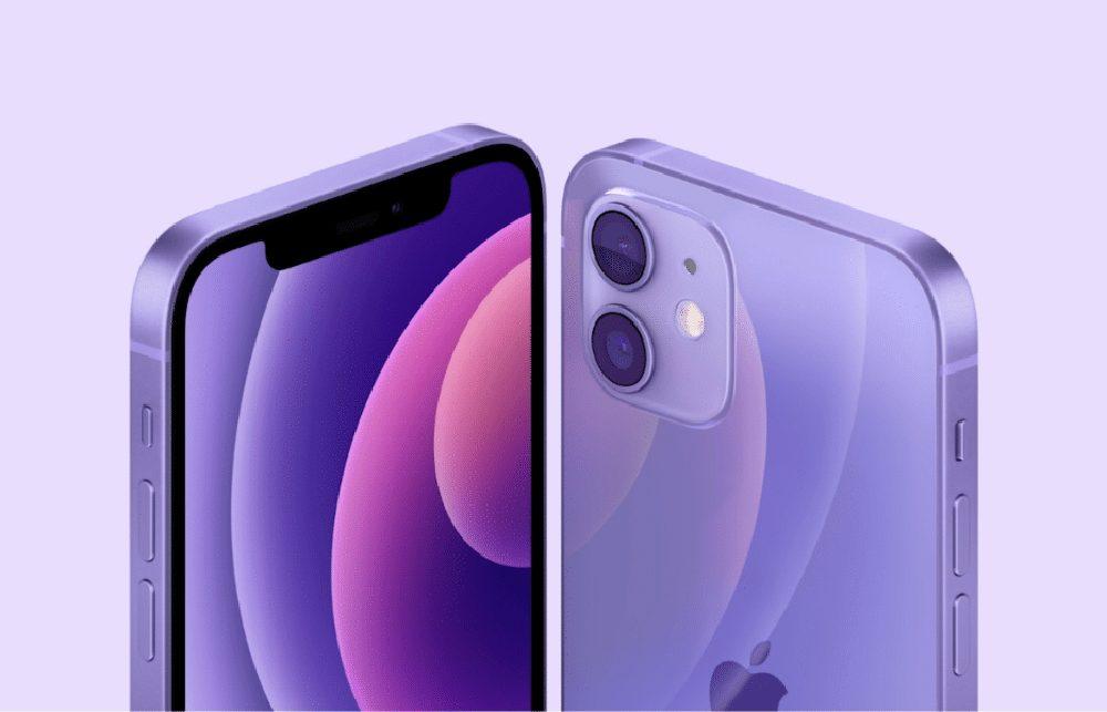 Apple lance l'iphone 12 en mauve lila
