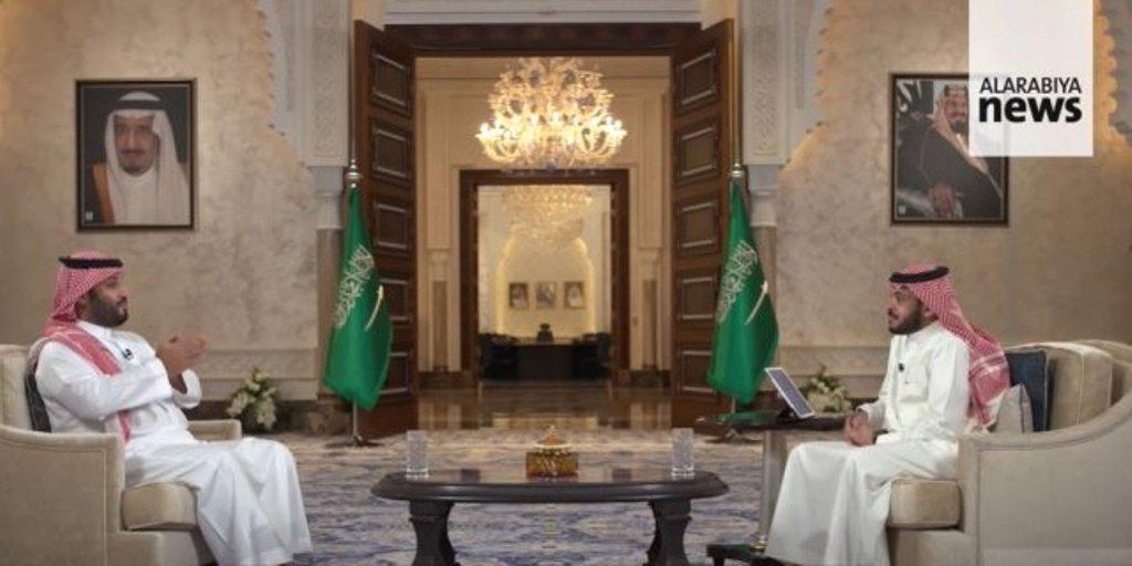 Le prince héritier d'Arabie saoudite lors de son entretien télévisé avec la chaîne 'Alarabya'