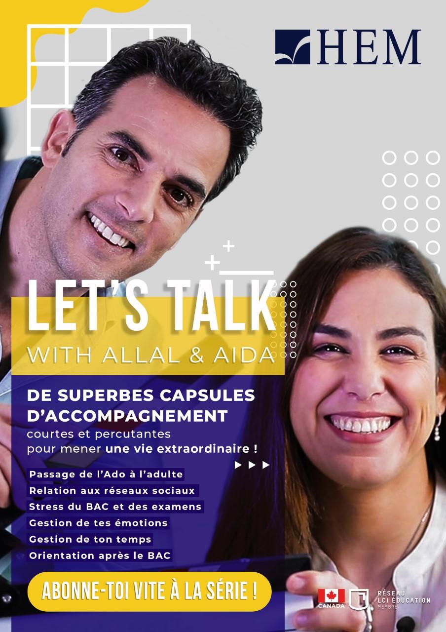 Lancement de la web série '' Let's Talk'' de HEM