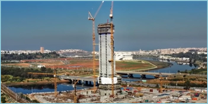 Tour Mohammed VI : un niveau d'avancement des travaux prodigieux!