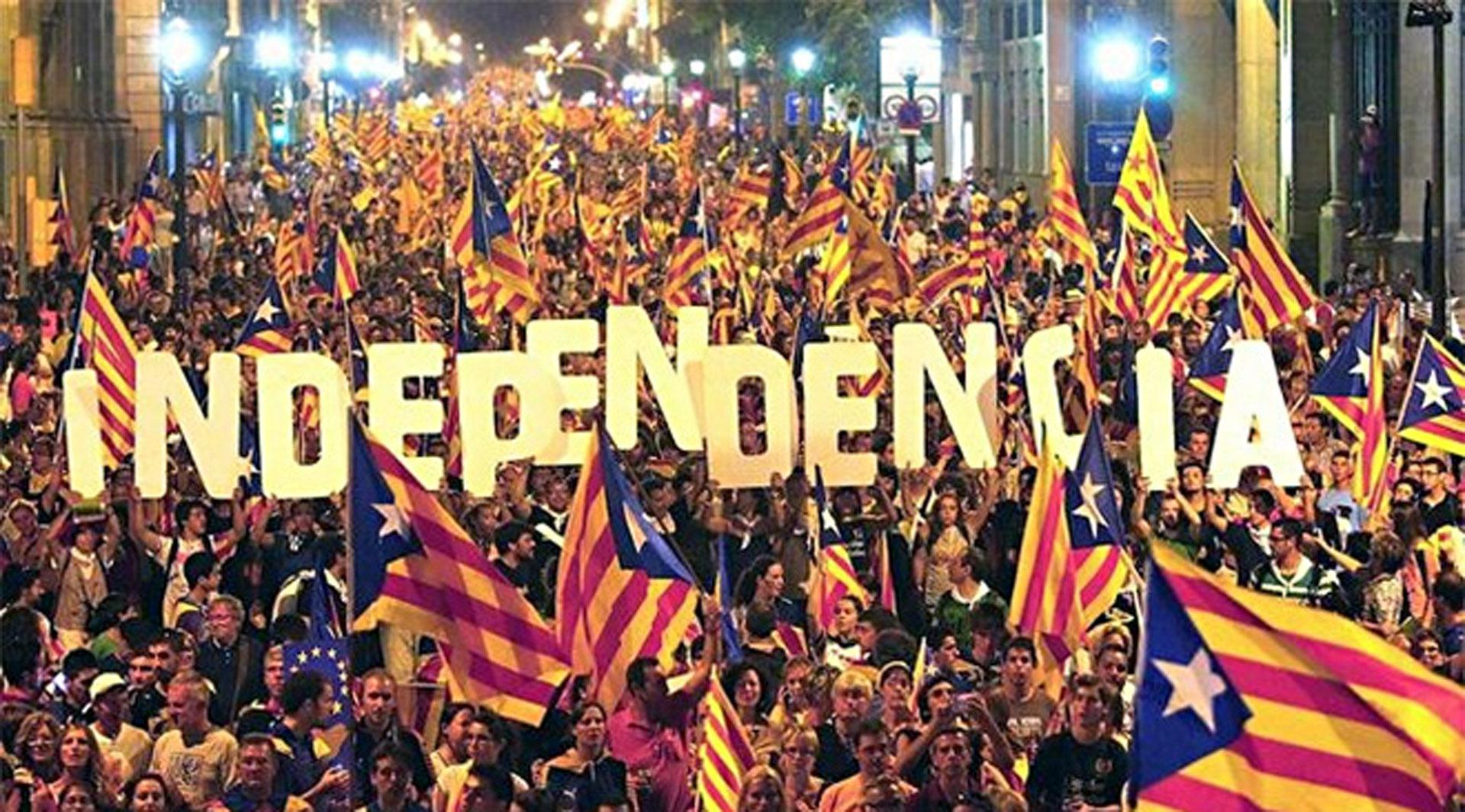 Le peuple Catalan manifeste pour son indépendance