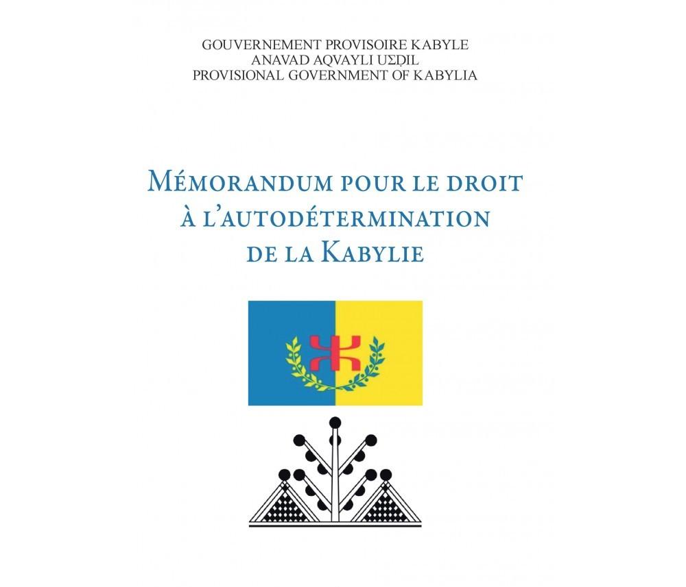 Un mémorandum pour le droit à l'autodétermination de la Kabylie a été déposée auprès de l'ONU en 2017