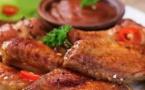 Poulet mariné aux herbes de Provence, sauce au chorizo et purée de courgettes de Ducros