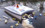 Un aquadrone permet de récupérer les déchets plastiques en mer !