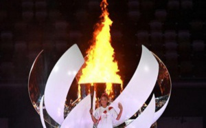 JO : C'est la tenniswoman Naomi Osaka qui a allumé la flamme olympique