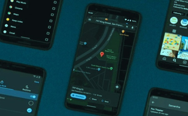 "Déploiement du ""Dark Mode"" sur Google Maps"