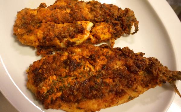 Poisson frit à la « charmoula »