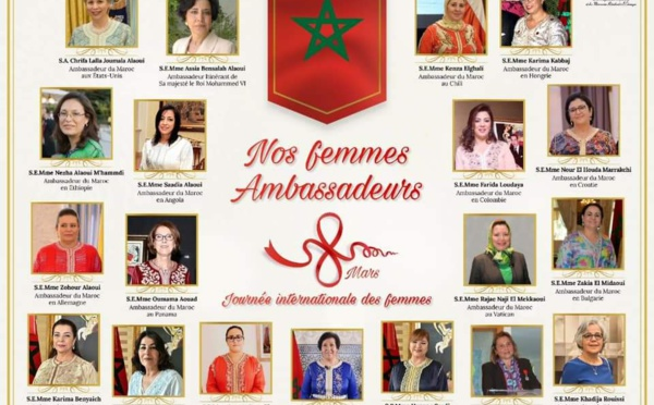 """Oui, le Maroc a 19 Femmes """"Ambassadeur"""""""
