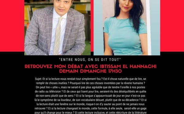 """Ibtissame El Hannachi, invitée de l'émission """"Entre nous, on se dit tout"""""""