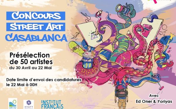 """""""Street Art Casablanca"""" lance son concours, du 30 avril au 22 mai"""