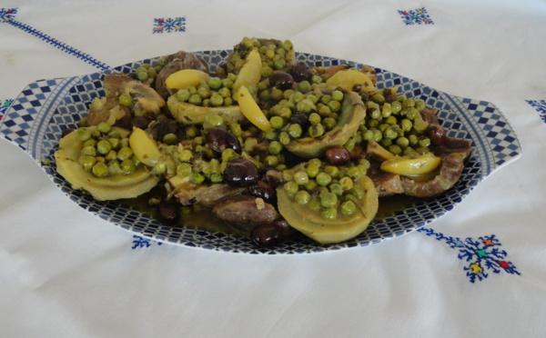 Tagine mqualli aux artichauts