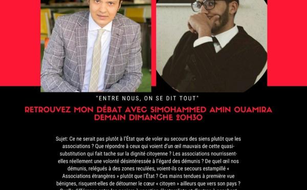 """Simohammed Amine Ouamira, invité de l'émission """"Entre nous, on se dit tout"""""""