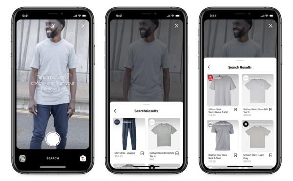 Instagram va ajouter la recherche visuelle au shopping