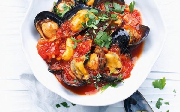 Moules à la sauce tomate